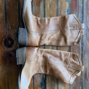 Frye soft leather cowboy boots - worn once
